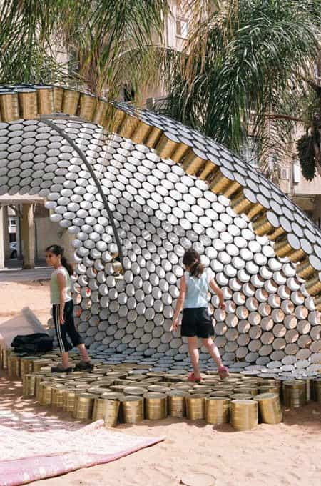 cans1 Bat Yam Cans Pavilion in packagings metals architecture with pavilion festival Cans