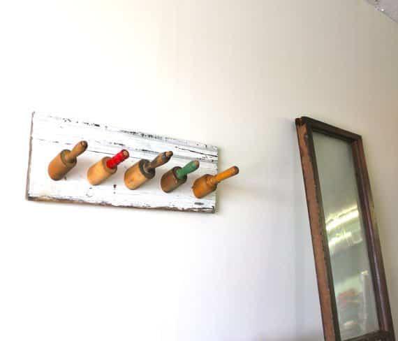 Rolling Pin Hook Rack Accessories Wood & Organic