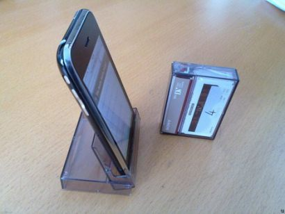 Upcycled iPhone stand / dock