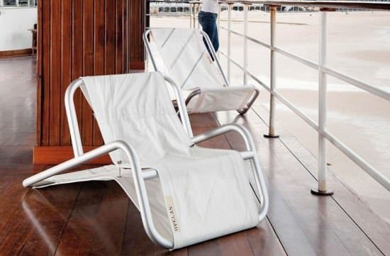 Sail fabric chair in furniture fabric  with