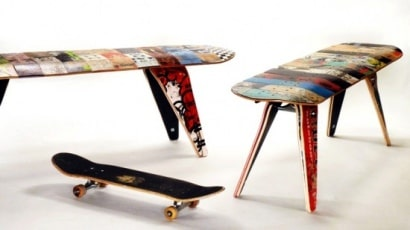 Deck bench (& stools)
