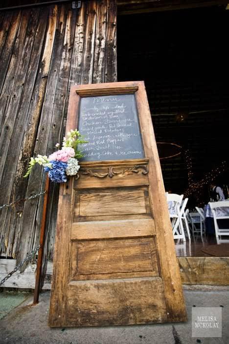 Old Door Reused Into Restaurant Menu Wood & Organic