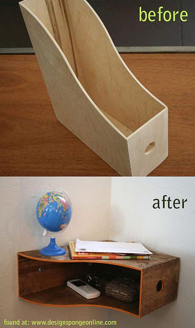 Handy Space Saver Do-It-Yourself Ideas Wood & Organic