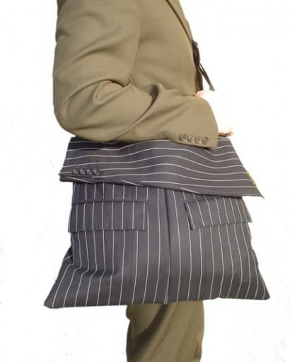 Bags from recycled jackets