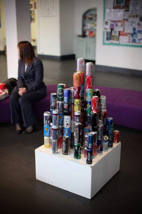 The Litter Project in social art  with Sculpture Recycled Art Recycled project