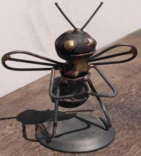 B002.mother bee..FOB4 .95 Recycled Bomb Shell Casing Bee Scupltures in metals art  with Sculpture Metal Art