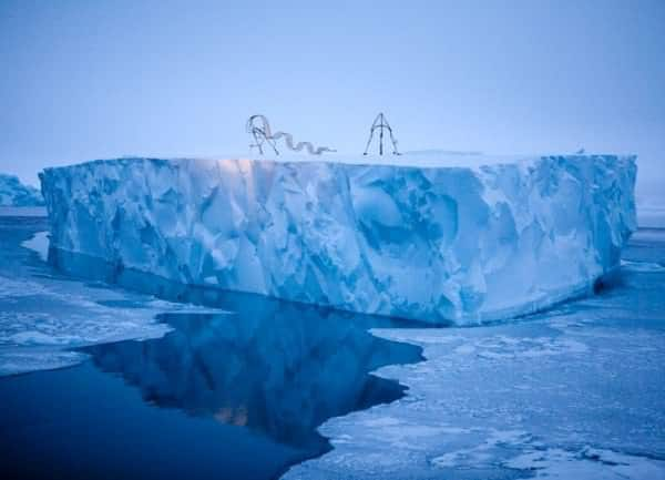 Haunting Sculptures Shaped Like Inuit Dog Sleds Call Attention to Climate Change in social metals  with Sculpture climate change