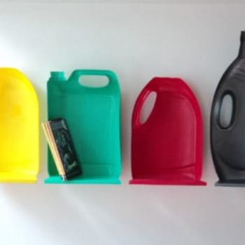 Plastic jug shelves