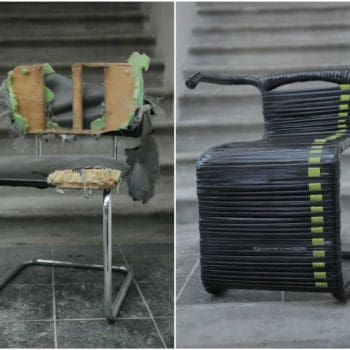 Chair Made From Recycled Bike Inner Tubes
