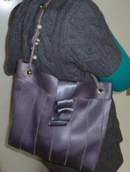 Upcycled Seat Belt Handbags