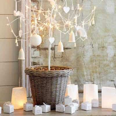 festive mantelpiece christmas christmas decorating ideas the white company roomenvy Recycle and make unique christmas trees in pallets 2 diy  with Wood / organic Tree Reused Recycled Pallets organic DIY Christmas 