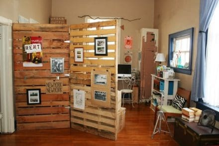 Room Divider From Pallet Wood