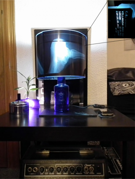 X-Ray Bottle lamp