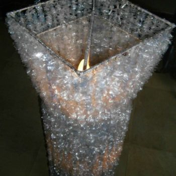 Alternative Crystal Lamp From Recycled Plastic Bottles