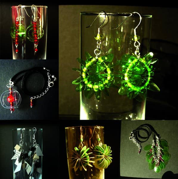 Icebubble Jewels: Jewelry Out of Plastic Bottles, Cartons & Old Newspapers Upcycled Jewelry Ideas