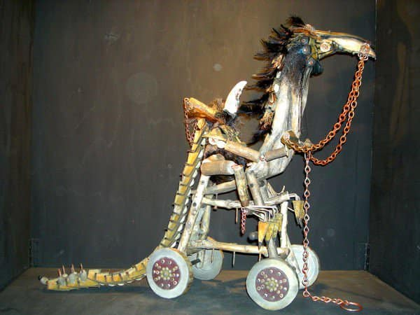 Mythical Sculptures From Recycled & Found Objects Recycled Art