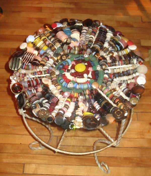 The Madness of Buttons Recycled Furniture