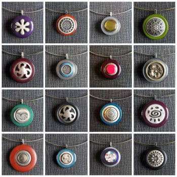Vintage Buttons Into Pendants
