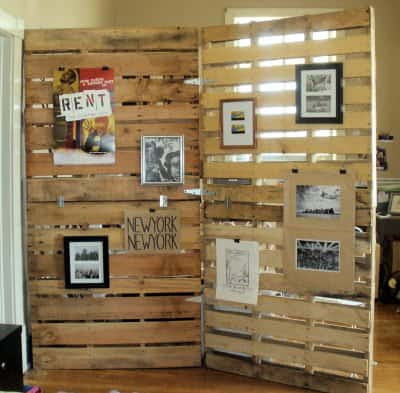 Pallets   > room divider in pallets 2 diy architecture  with Room Pallets