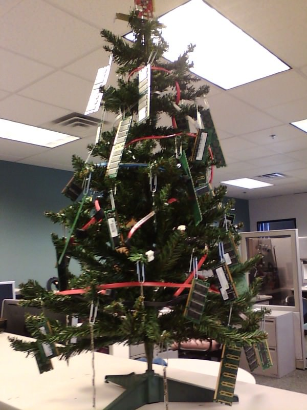 Christmas in the IT Department! in electronics diy  with Tree Recycled Computer Christmas