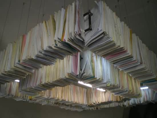 Paper Chandelier Lamps & Lights Recycling Paper & Books
