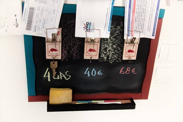IMG 4932 Mouse traps bill and key holder + blackboard reminder ! in diy accessories  with