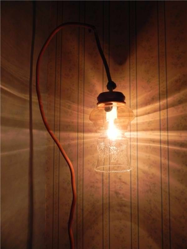 Lamp light Recycled aluminum tube lamp in lights furniture diy  with Recycled Light Lamp Glass Art 