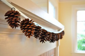 DIY : Pine cone garland