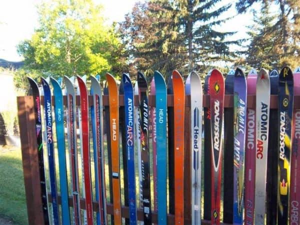 Snow Ski Fence Do-It-Yourself Ideas