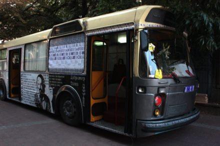 Bus –>Public library