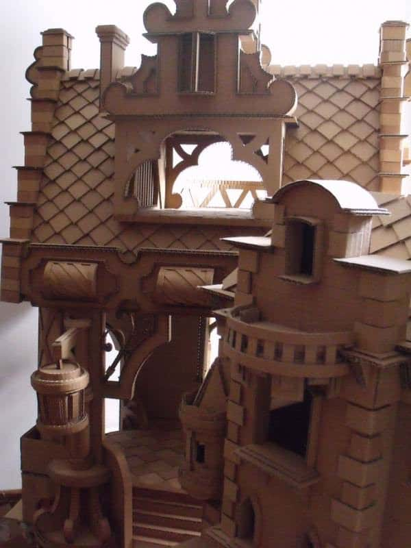 castillo 005 Cardboard Castle in diy cardboard  with Kid DIY castle Cardboard