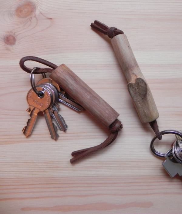 Kiwi Wooden Keychain Accessories Do-It-Yourself Ideas