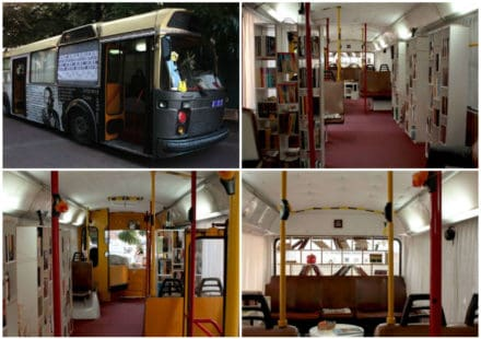 Bus Transformed Into Public Library