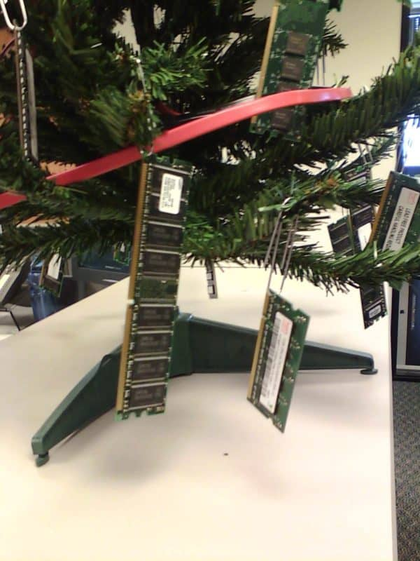 Christmas In The IT Department Recycled Electronic Waste