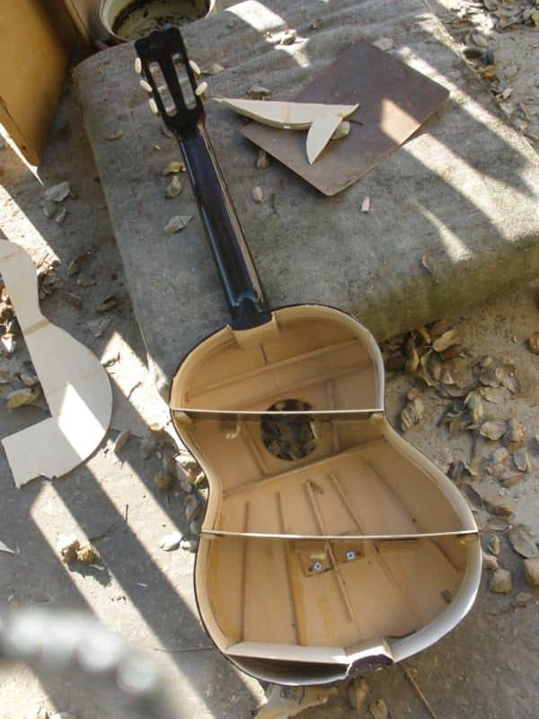 The Last Acord of the Spices Guitar Recycled Furniture