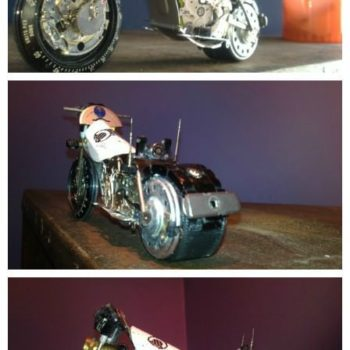 Tissot Watch Upcycled Into Miniature Harley