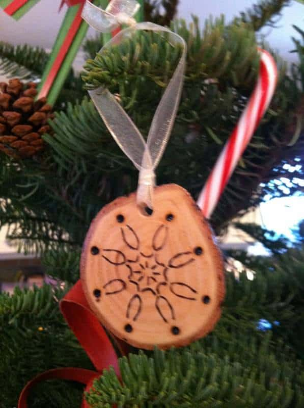 Rediscover tree branch in wood diy  with Tree Reused Ornament Holiday Christmas