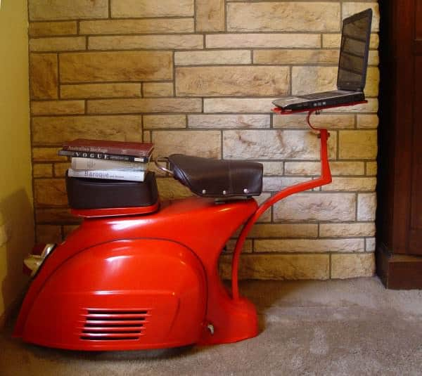 Reinventing a Vespa part I in furniture  with Vespa upcycled furniture Seat