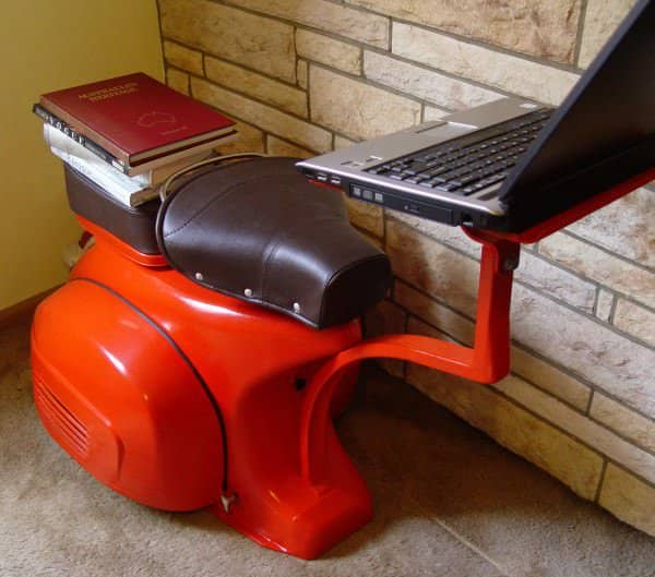 Reinventing a Vespa part I in furniture  with Vespa Seat Furniture