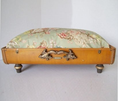 Recycled Vintage Suitcase made into Unique Pet Bed