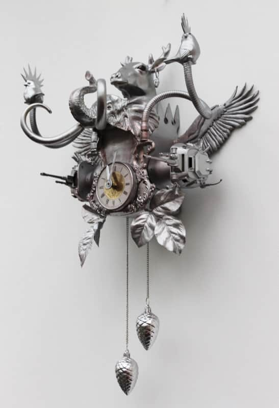 Cuckoo Clock Accessories Recycled Art
