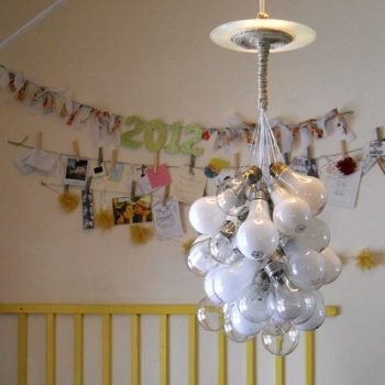 Upcycled Light Bulb Chandelier