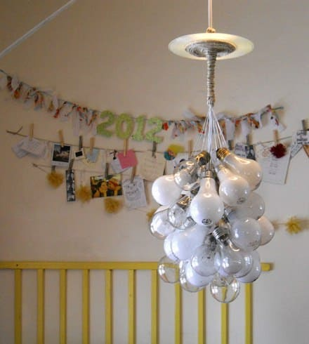Upcycled Lightbulb Chandelier
