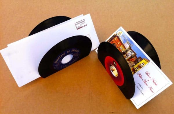 Vinyl Documents Folder in vinyl records accessories  with Vinyls Upcycled Music Letter Desk