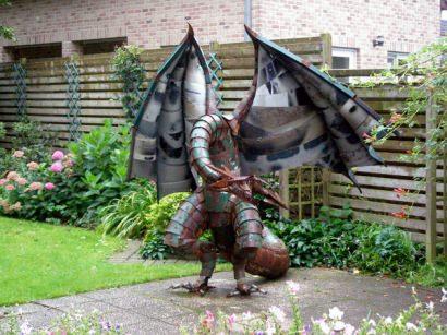 Dragon of scrap metal