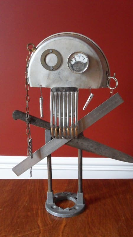 Skull art Recycled Art Recycling Metal