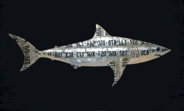 Great White Recycled Art Recycling Metal