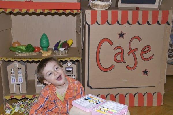 Cafe Kasha Made in Cardboardia Recycled Cardboard