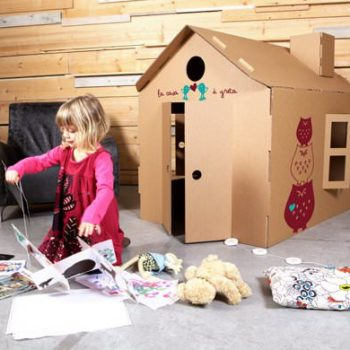 MiCasa Kids Cardboard Playhouse