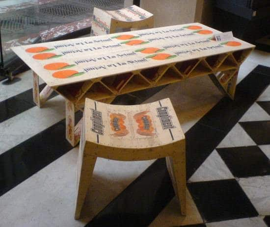 Wooden crates furniture in wood packagings furniture diy art  with Repurposed Furniture Crates